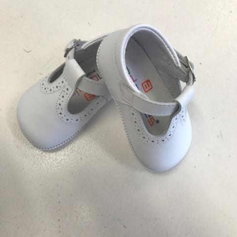 White Leather Baby Shoes - AA2333 - The
